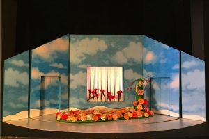 Blumenfrau_Bühnenbildmodell