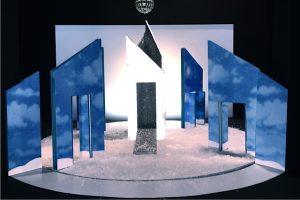 Modell Bühnenbild Eispalast