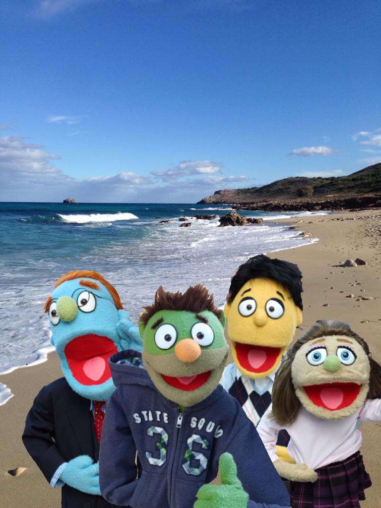 Nicky und seine Freunde am Strand