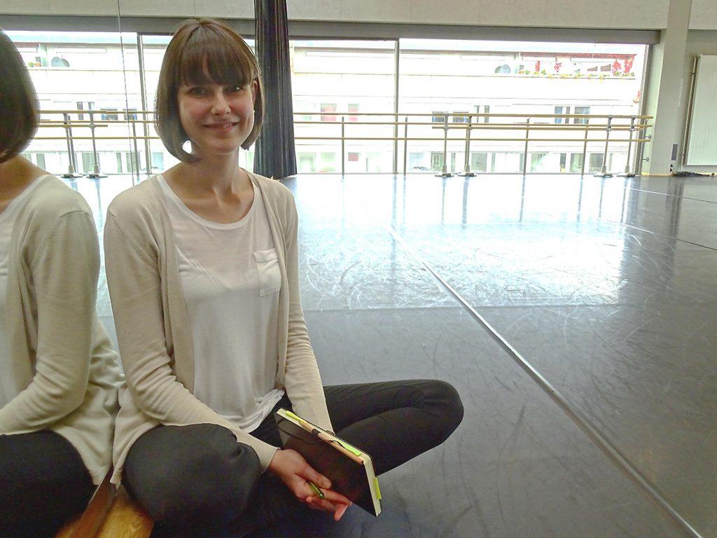 Janett Metzger im Tanzsaal