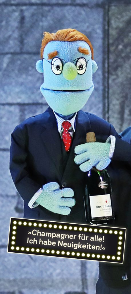 Rod: »Champagner für alle! Ich habe Neuigkeiten!«